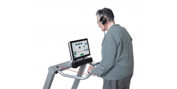 Biodex Gait Trainer 3 Treadmill Patient and Music Therapy