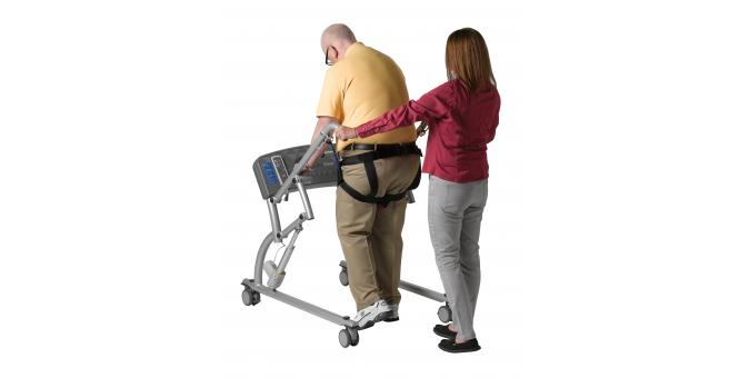 950 570 Mobility Assist patient with PT walking behind