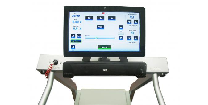 Biodex Gait Trainer 3 Treadmill Music Therapy Screen